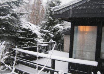 achterkant huisje winter